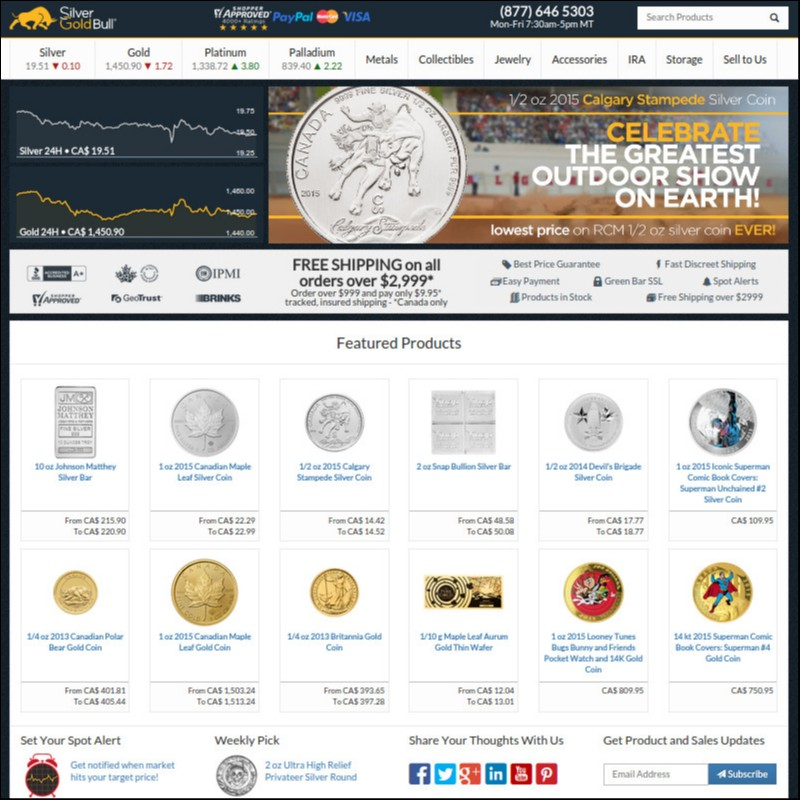 Silver Gold Bull Website