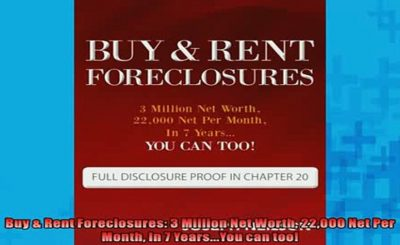 Buy & Rent Foreclosures