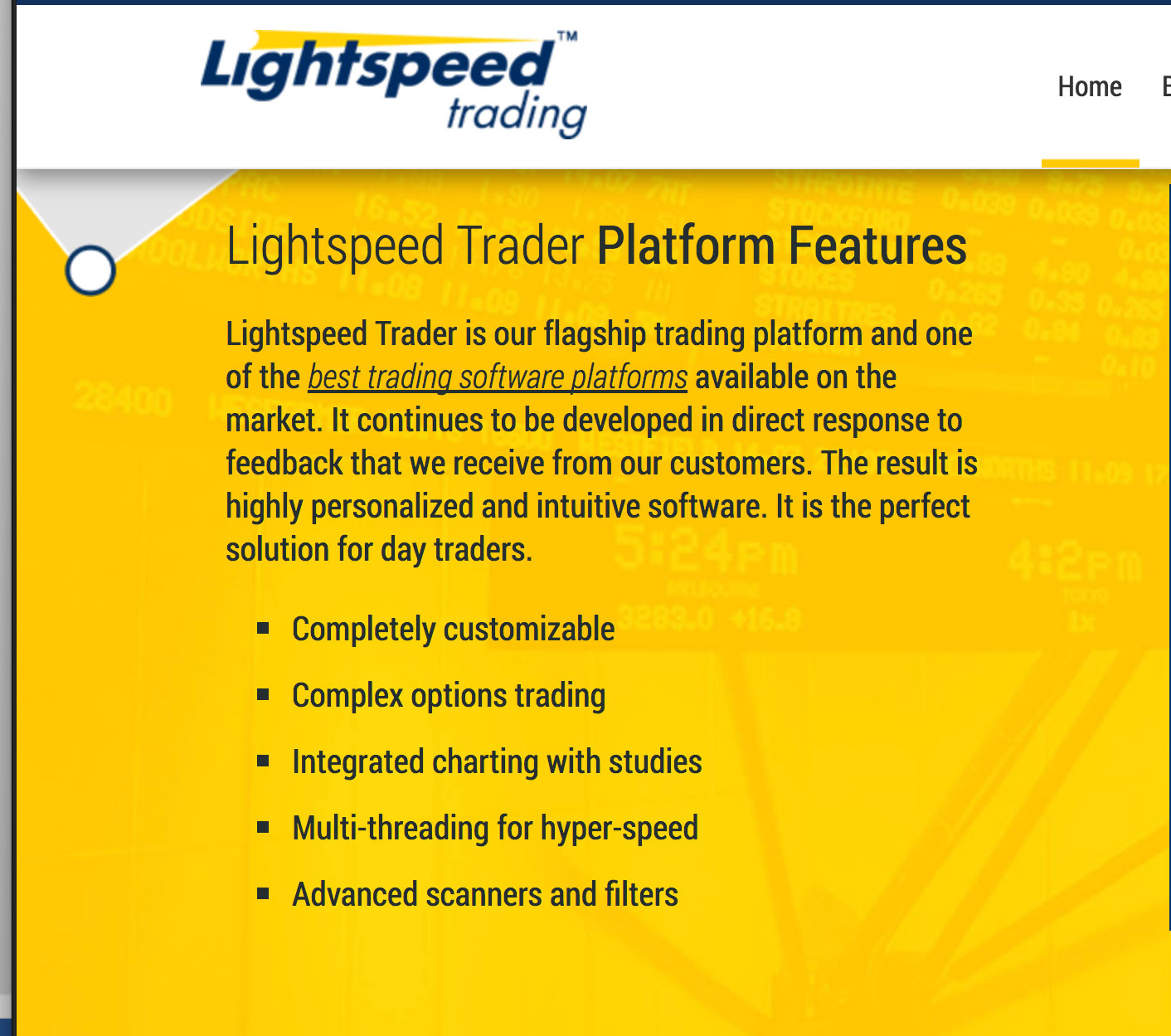 Light Speed Features