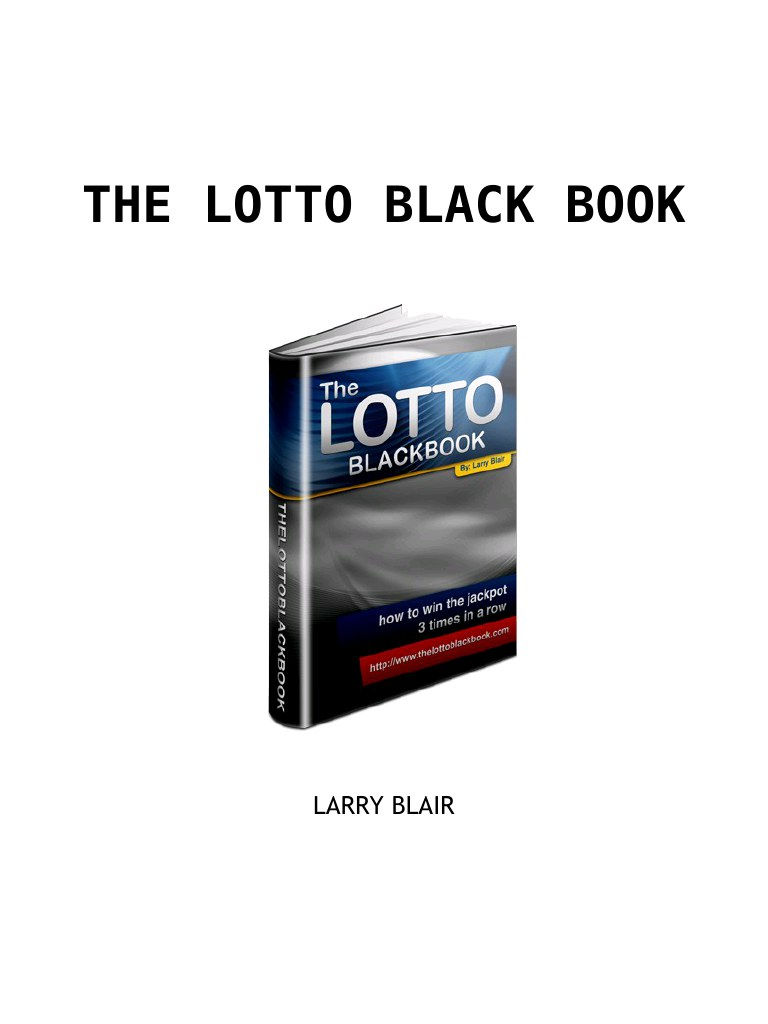 larry-blair the lotto black book
