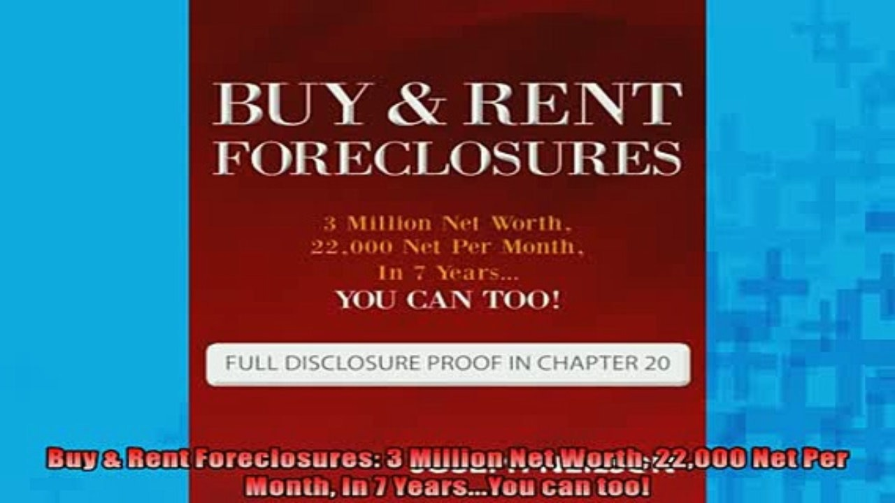 Buy & Rent Foreclosures